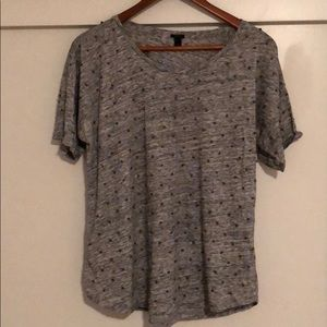J.Crew Heather Gray embellished T-Shirt - L